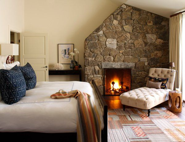 55 Spectacular and cozy bedroom fireplaces | Bedroom decor lights .