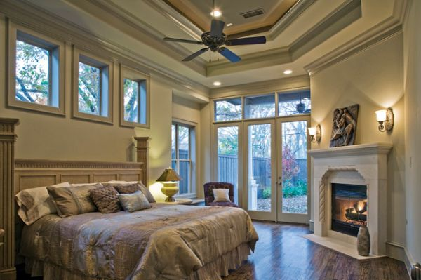 Bedroom fireplaces – a way of making this room even more warm .