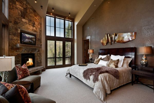 55 Spectacular and cozy bedroom fireplaces | Dream master bedroom .