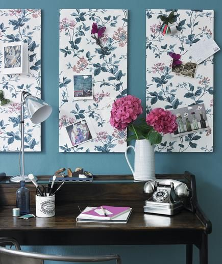 DIY Ideas: Decorate Your Blank Walls! | Decor, Home office design .