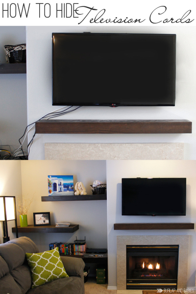 Remodelaholic | 95 Ways to Hide or Decorate Around the TV .