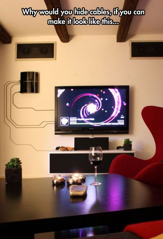 Stop hiding cables. | Beautiful living rooms, Mobile home living .