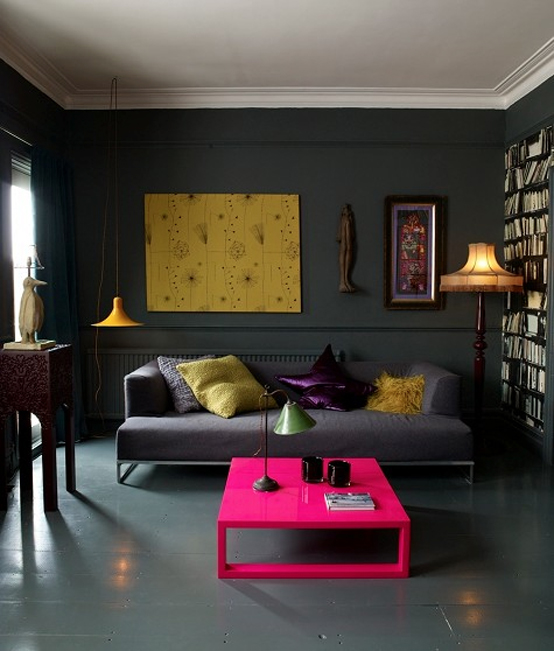 Dark And Moody Apartment | Living Room Design Ide