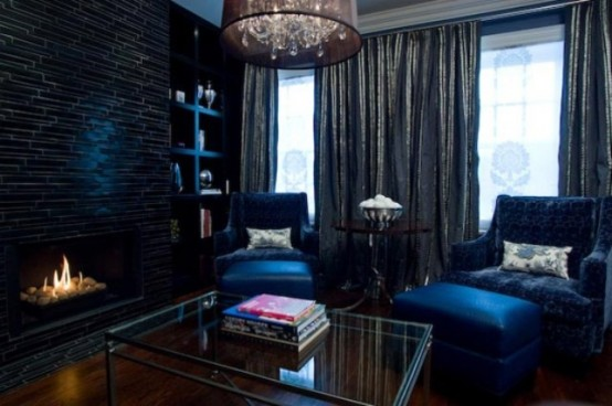 36 Stylish Dark Living Room Designs - DigsDi
