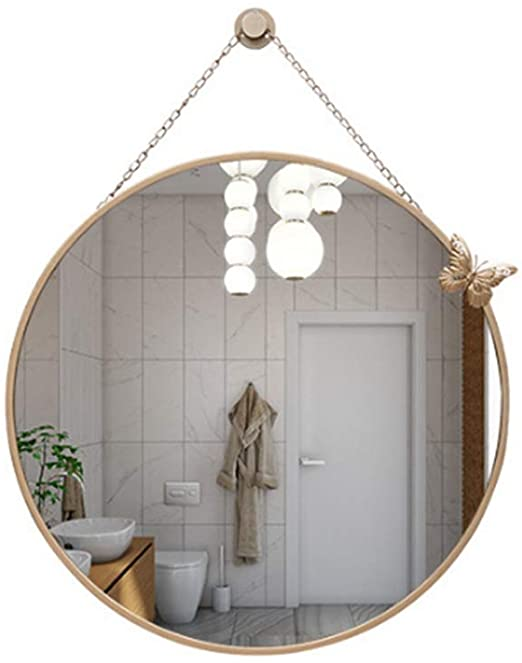 Amazon.com: Anchor1 Nordic Wall Wrought Iron Round Mirror with .