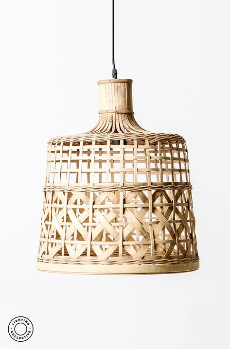 This woven cane pendant light is perfect for interiors after a .