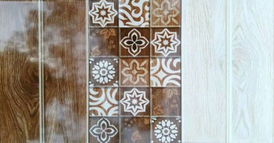 China 2018 Design Wood Slab Look Ceramic Wall Tile with Beautiful .