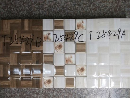 China Stylish Glossy Beveled Wood Texture Block Mosaic Pattern .
