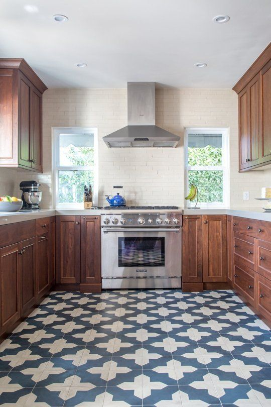 Kitchen Inspiration: Bold & Beautiful Patterned Floors in Real .