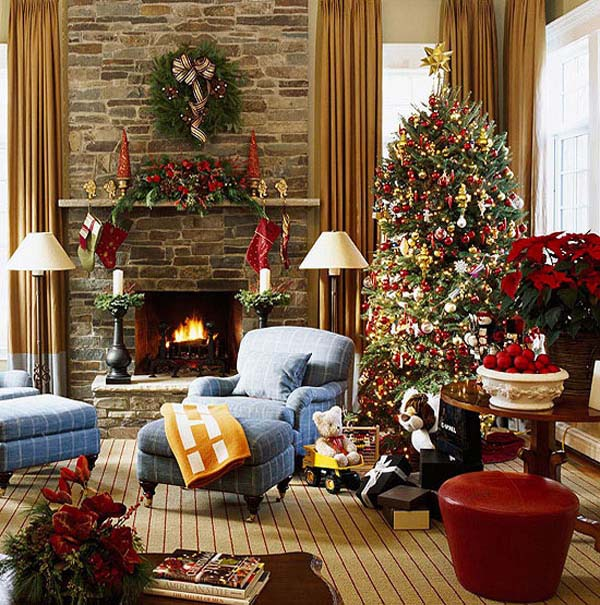 Christmas Living Room Decorating Ide