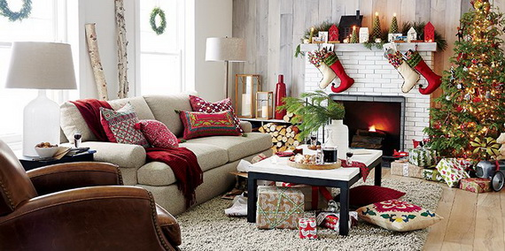 60 Elegant Christmas Country Living Room Decor Ideas | family .