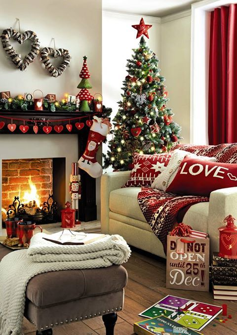 Christmas Living Room Decorations | Christmas living rooms .