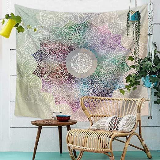 Amazon.com: Soyon Multi Colorful Bohemian Mandala Tapestry-Mandala .