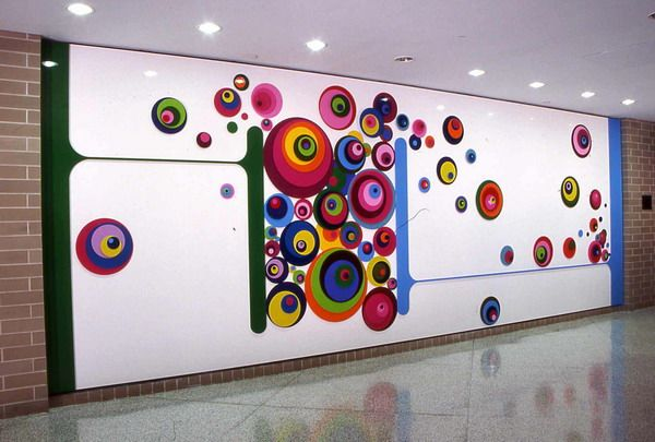 Colorful Wall Murals School Decorating Ideas | Creative wall .