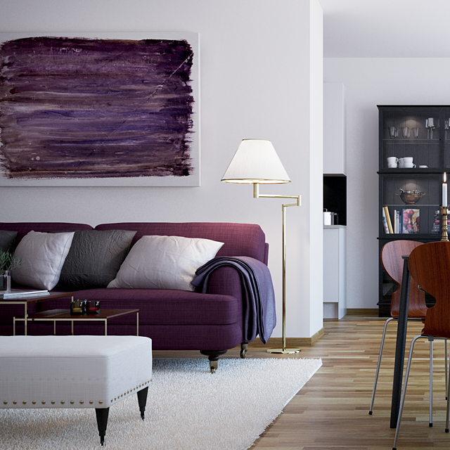 Modern Style Purple Sofas Bright Provides Living Room Decor Among .