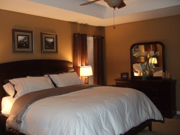 warm master bedroom decorating ideas   warm, brown, and simple .