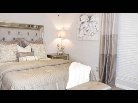SIMPLE GLAM MASTER BEDROOM MAKEOVER| SMALL SPACE DECORATING IDEAS .