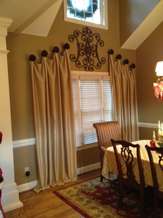 Traditional Dining Room Decorative Drapery Hardware Design .