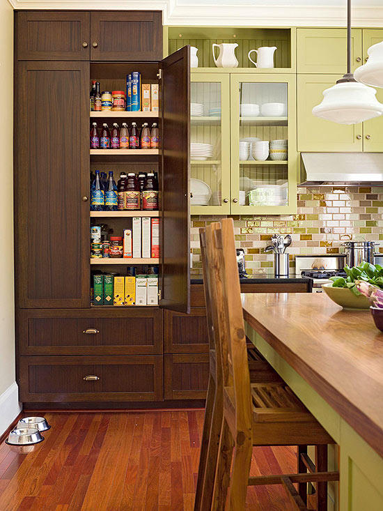 Contemporary Kitchen Pantry Idea Food Storage For Small Cool Space .