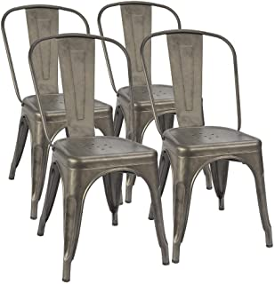 Amazon.com: Metal - Chairs / Kitchen & Dining Room Furniture: Home .