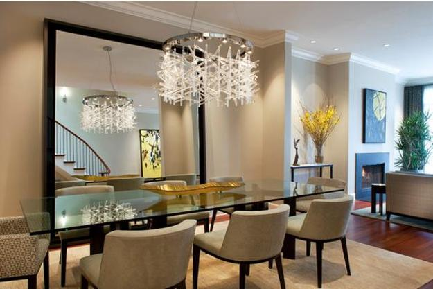 Glass Top Tables Magnifying Beautiful Dining Room Desi