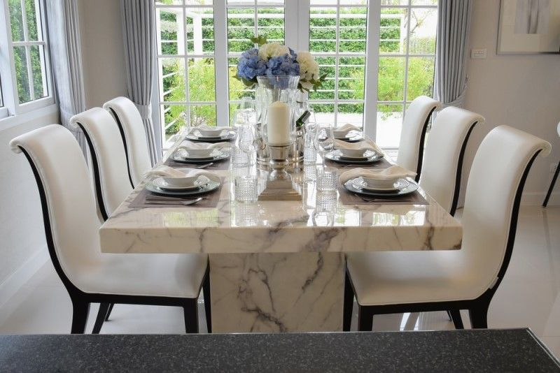 27 Modern Dining Table Setting Ideas | Modern dining table, Luxury .