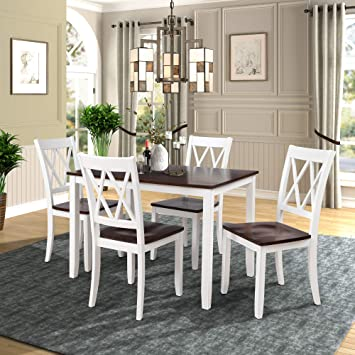 Amazon.com - Merax Dining Table Set Kitchen Dining Table Set for 4 .
