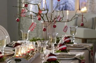 Ideas to decorate your Christmas dinner table   Christmas table .