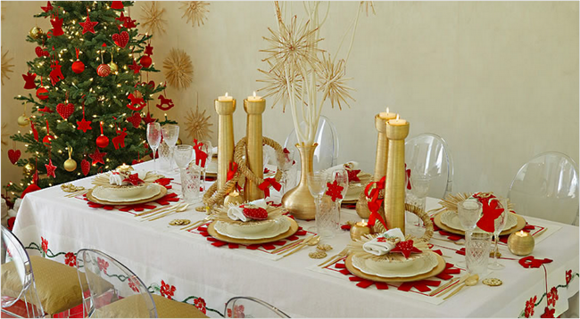 28 Christmas dinner table decorations and easy DIY Ide