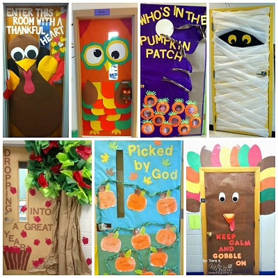 Fall Door Decoration Ideas for the Classroom - Crafty Morni