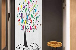 Amazon.com: Onefzc Sticker for Door Decoration Music Tree with .