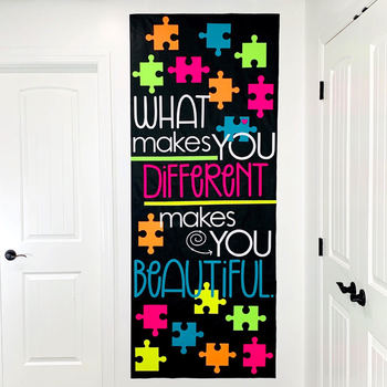 "Door Decoration Set: ""Different"" - April/ Autism Awareness by Joey ."
