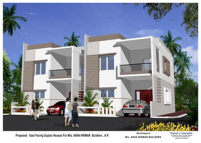 Duplex House Designs In Hyderabad | Duplex house design, House .