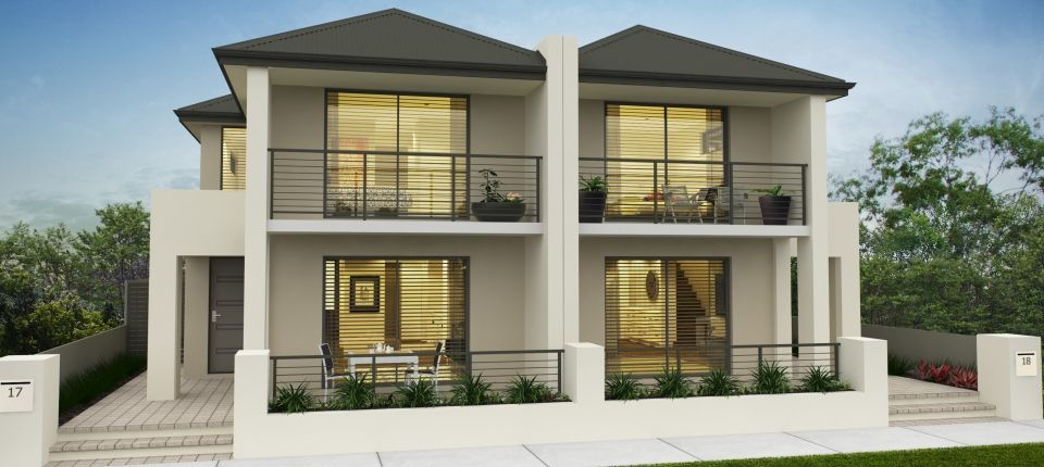 modern duplex - Perry elevation | Duplex house design, Duplex .