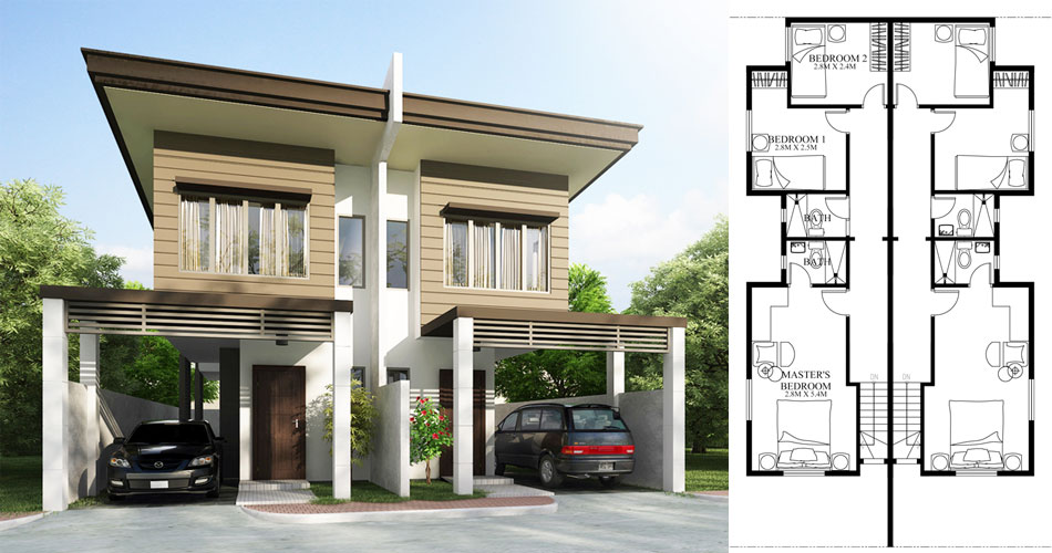 Duplex House plans Series PHP-20140
