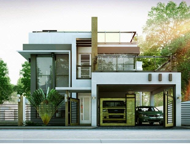 Modern Duplex House Designs Elvations + Plans … (With images .