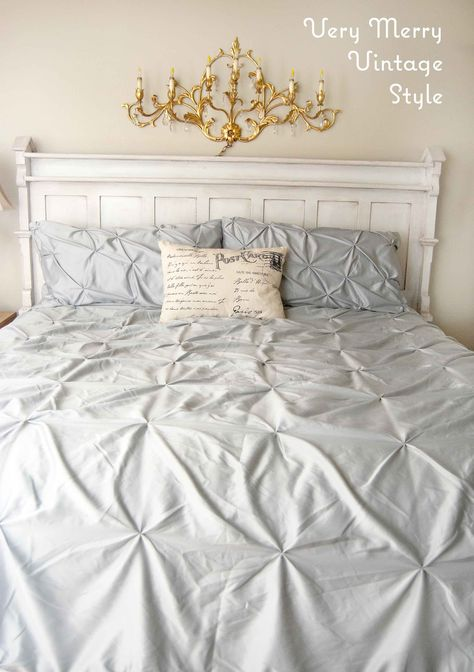 Easy Bedroom Updates {Vintage Style}. A vintage church rail .