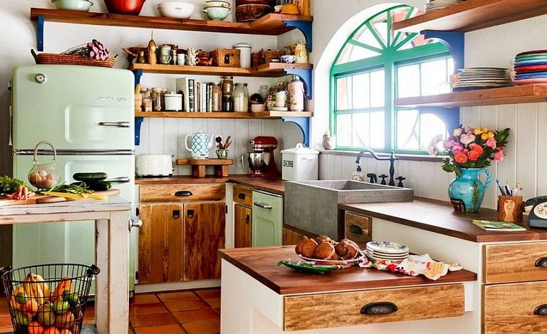 34+ inspirational Eclectic Kitchen Design Ideas | Eclectic kitchen .