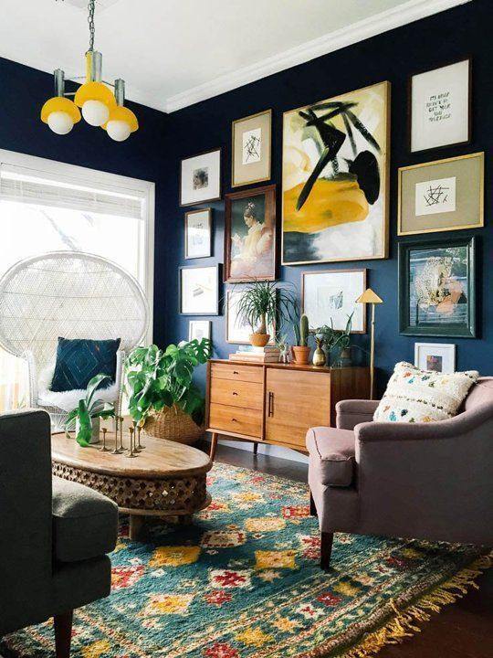 27 Navy Living Room Design Ideas | New living room, Living room .