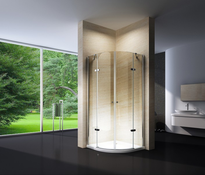 Quarter circle shower cabin EX406 - 8mm safety NANO Glass - 90 x .