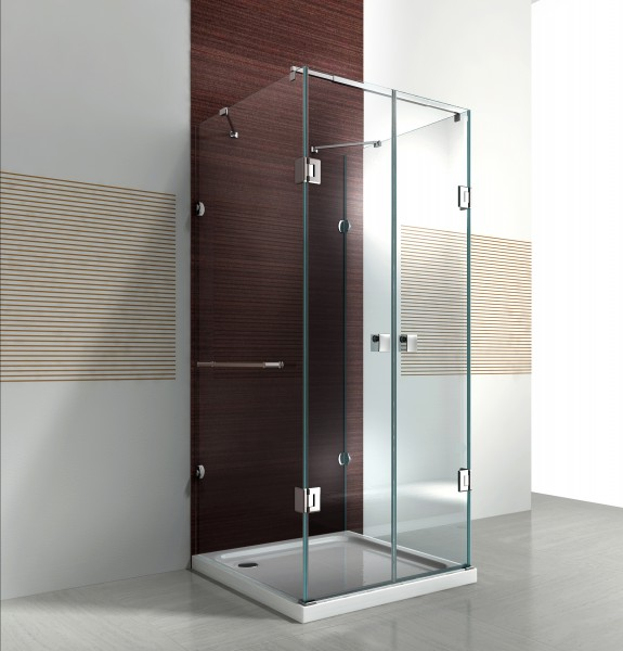 Shower cabin U-shape EX412 - genuine glass - 8mm tempered glass .