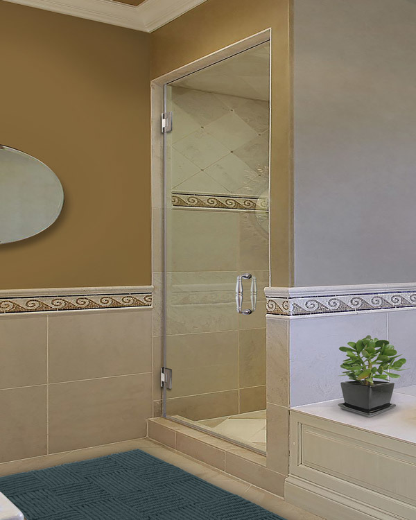 Single Frameless Shower Doors | Dulles Glass and Mirr