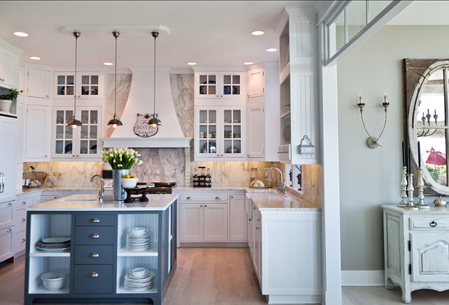 French White Kitchen Design - Home Bunch Interior Design Ide