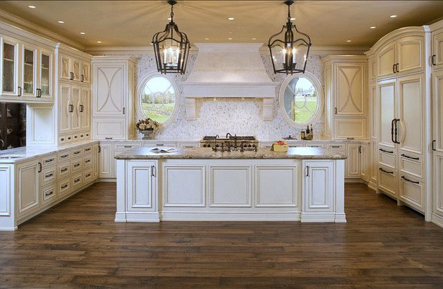 White French Kitchen Design. #White #French #Kitchen | French .