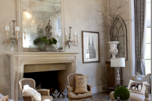 Get the look of a gorgeous French Country living room at kathykuo .