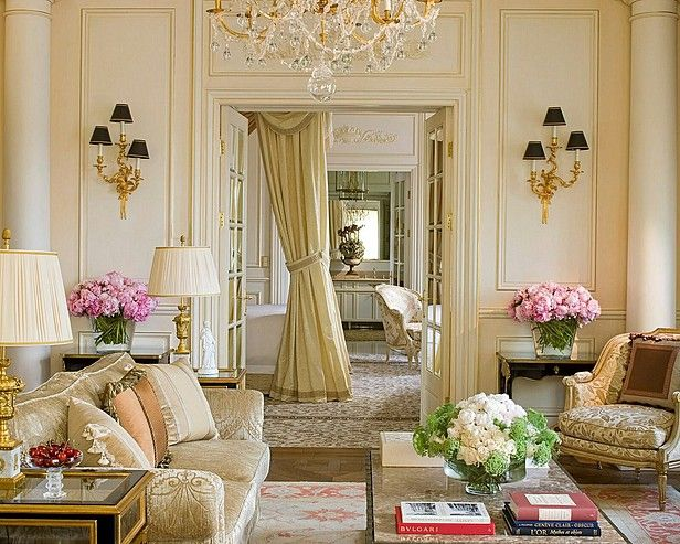 Attractive French Living Room Design Ideas | French living rooms .