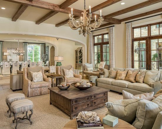 The Beauty of Neutrals | French country living room, Traditional .
