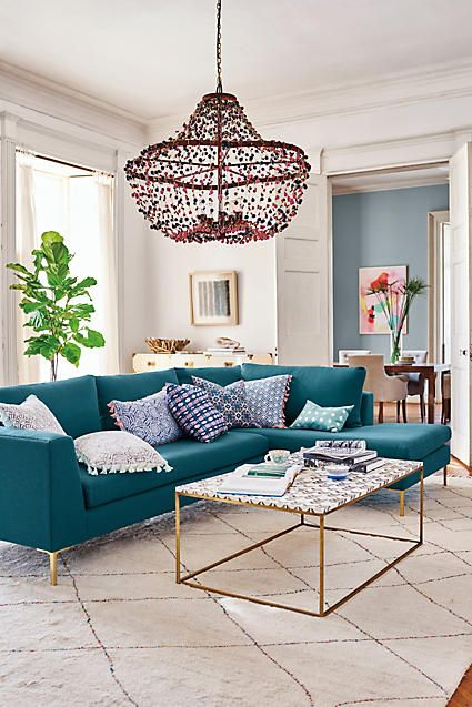 A modern, fresh living area - the modern, bright looking sectional .
