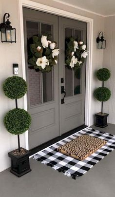 361 Best Front Door Decor images | Front door decor, Porch .