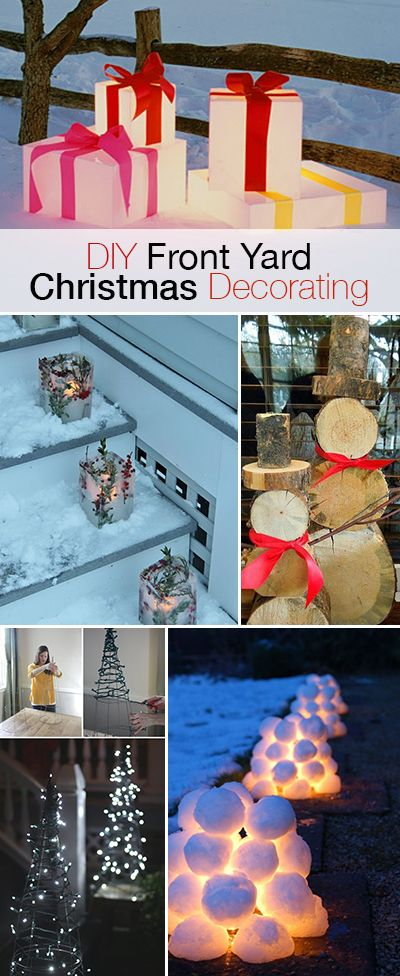 Awesome DIY Christmas Yard Decorations | Christmas yard .